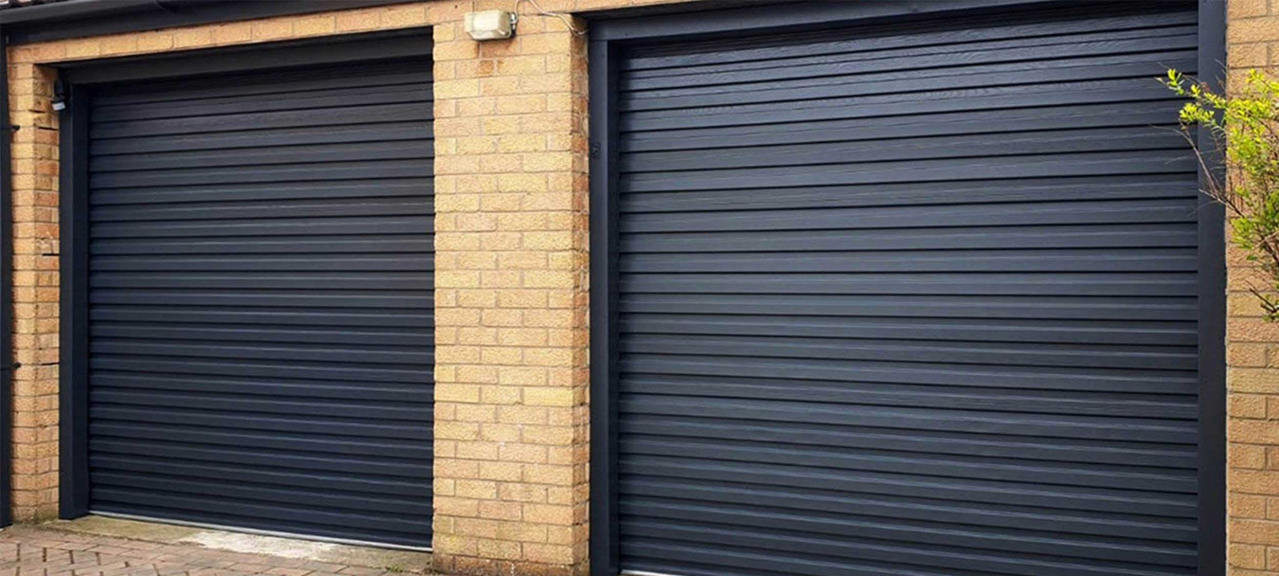 Spray Painting - Garage Door Painted Grey by UPVC Spray Painters