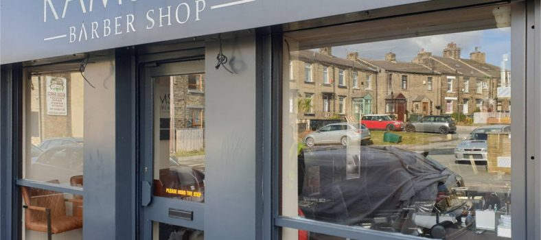 Shop Front Spray Painted to Grey by UPVC Spray Painters